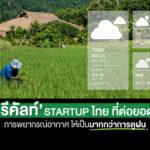 'รีคัลท์' Startup ไทย ที่ต่อยอดการพยากรณ์อากาศ ให้เป็นมากกว่าการดูฝน